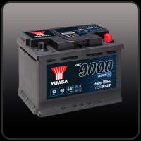 YUASA YBX9000 - AGM версия для автомобилей с расширенной системой Start-Stop
